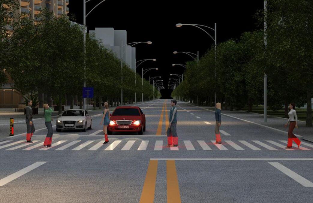 人行横道激光安全警示装置